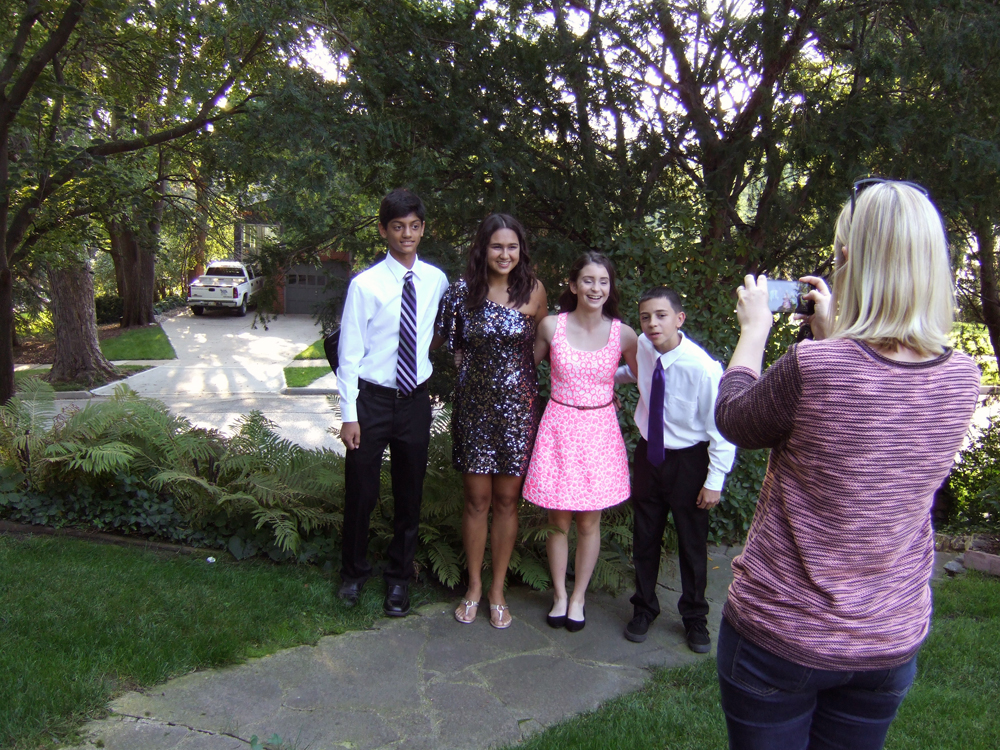 Echo Takes a Homecoming Photo of Nick and Friends