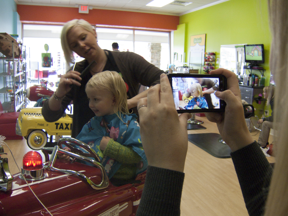 Echo photographs Norah's First Haircut
