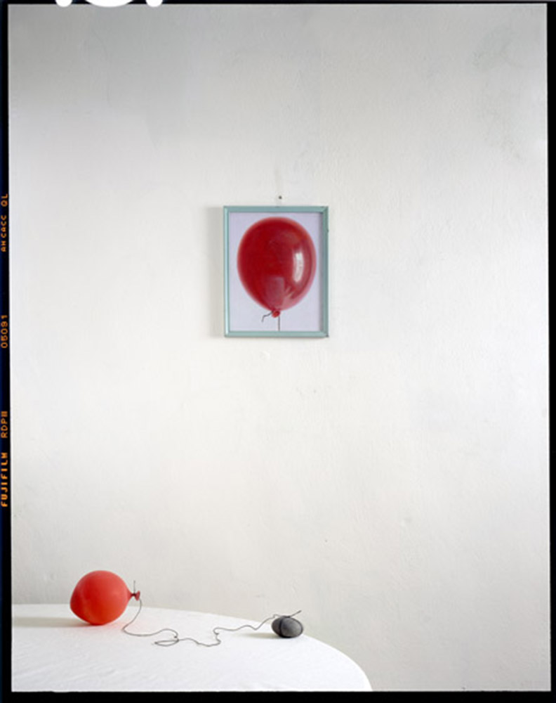 Balloon, Rock on Table with Painting.2010