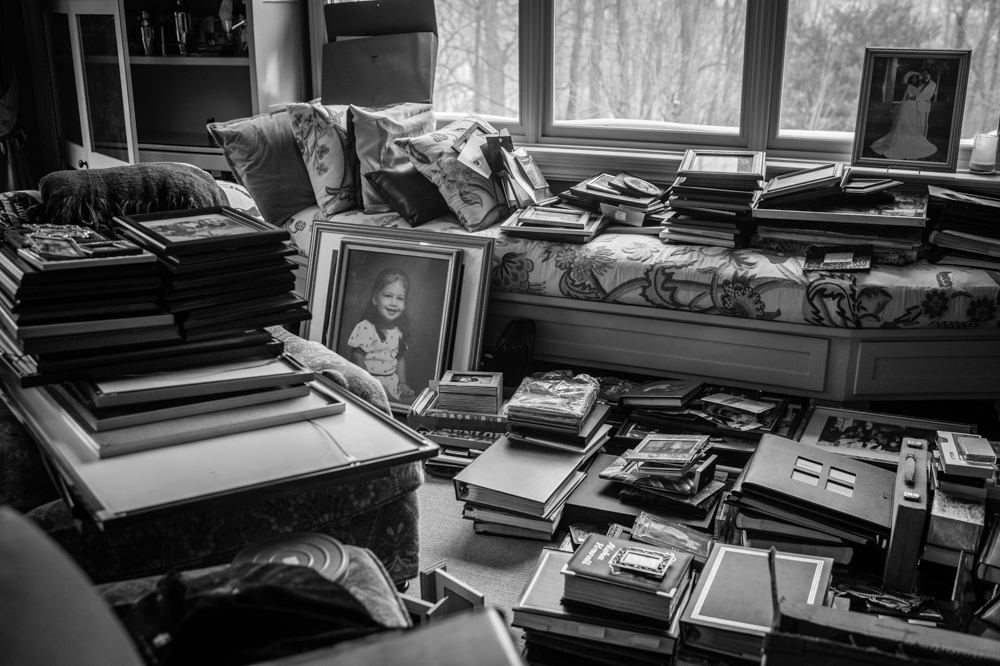The house needed to be packed up and cleared out if the Borowick kids were hoping to sell it and close the chapter. Thousands of photographs were uncovered from every corner of the home, reflecting a lifetime of memories that they will hold onto forever. Chappaqua, NY. February, 2015.