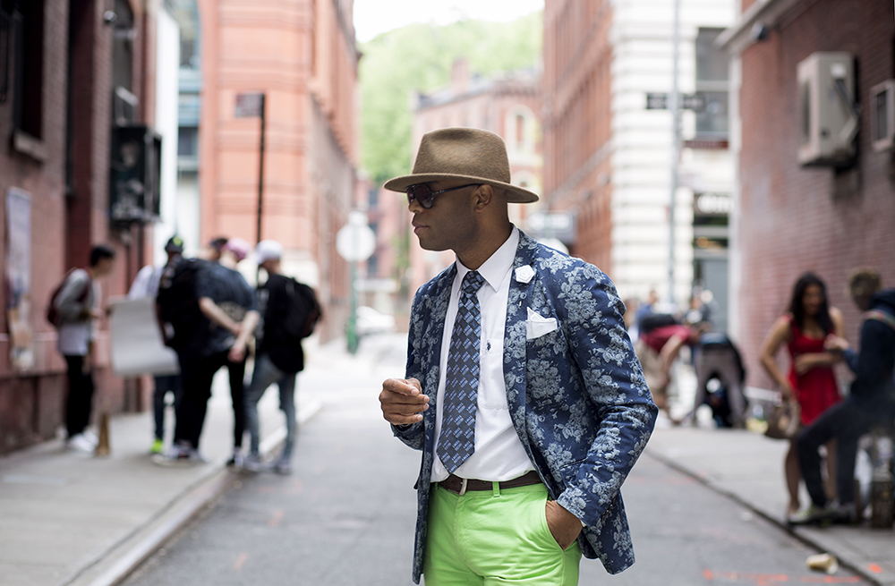 Street style in SoHo for the L. Kasimu Exhibit