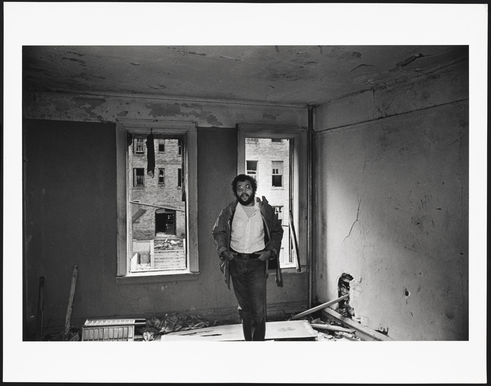 Mel Rosenthal in his old bedroom in the South Bronx
