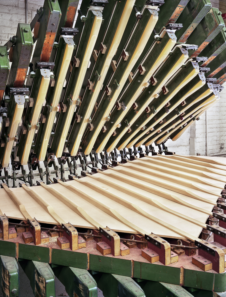 Model D soundboard rib press (Steinway & Sons piano factory, Astoria, NY)