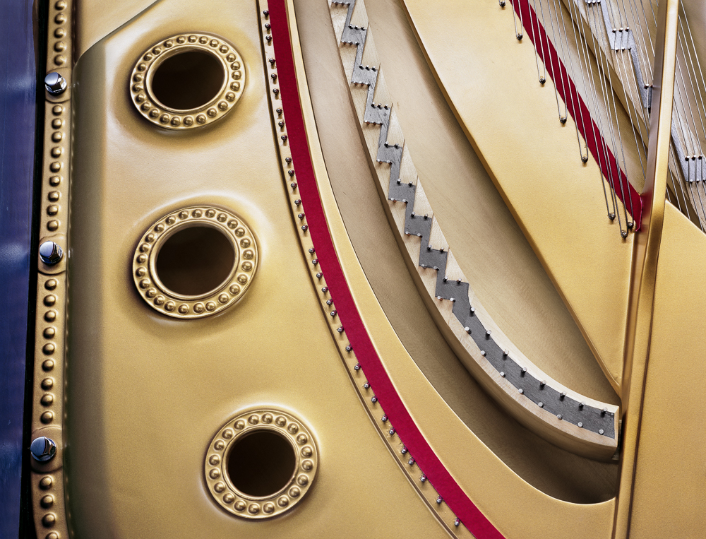 Soundboard and plate detail (Steinway & Sons piano factory, Astoria, NY)