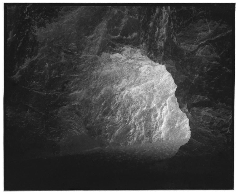 cave silver gelatin print 4x5 2013