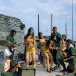 USO PERFORMANCE AT FIRE BASE RAWLINGS TÂY NINH PROVINCE, VIETNAM,  NOVEMBER 1969 David FaheySpec 4, US Army, 25th Infantry, 4th Battalion, 23rd Mechanized Infantry Brigade Vietnam and Cambodia, September 1969 – September