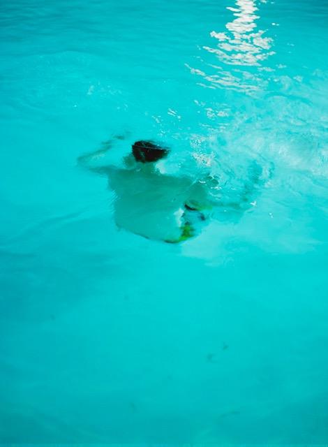 Ann Zeitler, Mondschwimmen, Houston, Texas