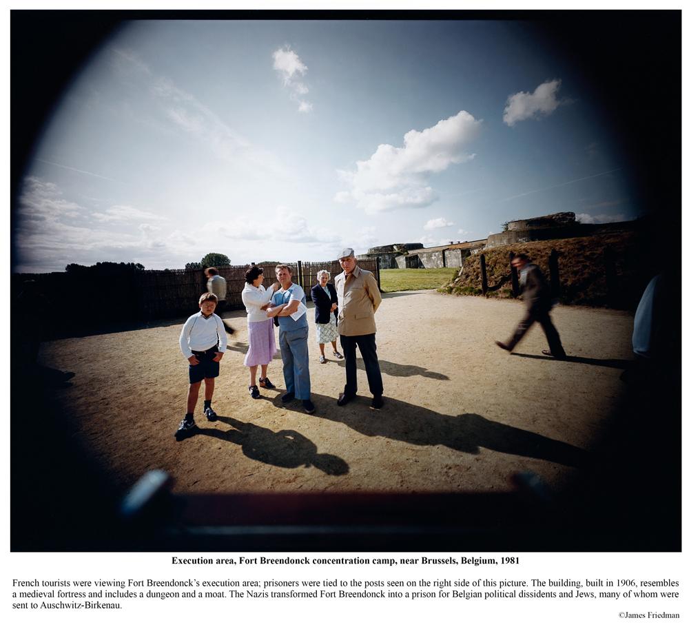 Survivor of three Nazi concentration camps, survivors' reunion, Majdanek concentration camp, near Lublin, Poland, 1983