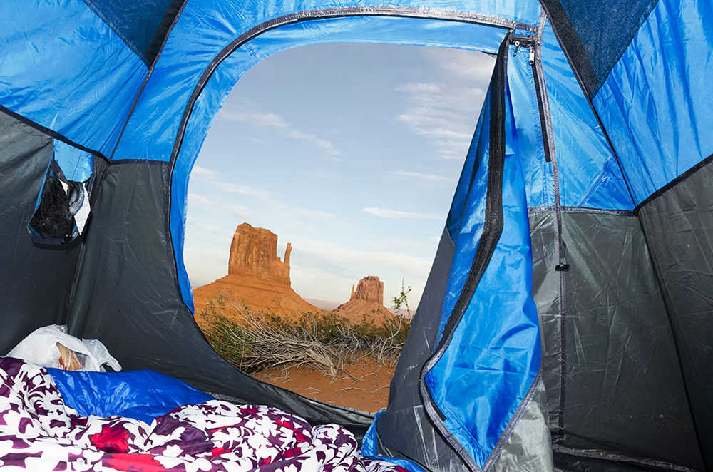 Tent, Monument Valley, AZ