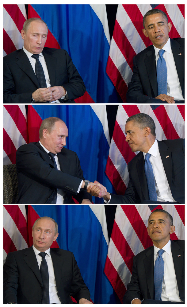 Russian Prime Minister Vladimir Putin and President Barak Obama.
