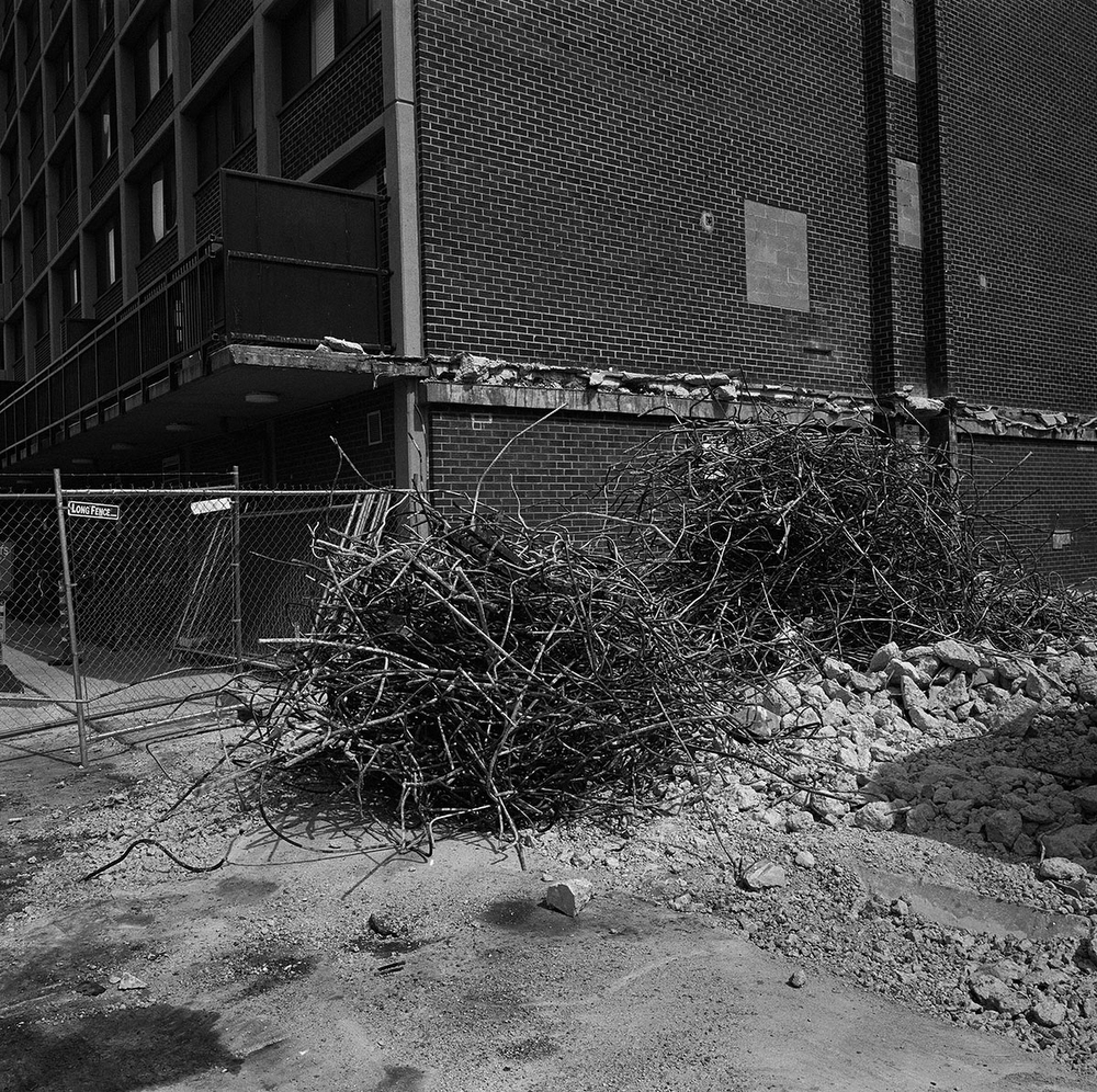 Demolition to allow for the building of condominiums in the Shaw neighbourhood, Washington DC, USA. (Credit Image: © Louie Palu/ZUMA Press)