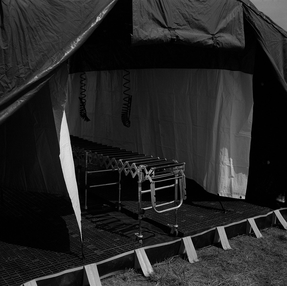 Chemical weapons attack tent used for treating casualties in Quantico, Virginia, USA. (Credit Image: © Louie Palu/ZUMA Press)