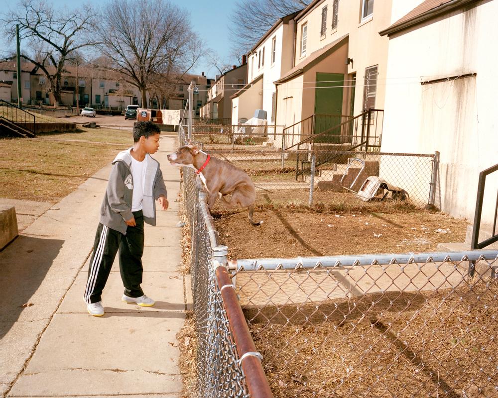 Young Man and Dog, Barry Farms, SE, Washington, DC