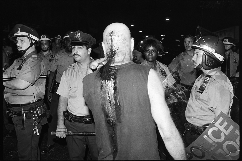 Tompkins Square Park riot, New York City, 1988. © James Hamilton