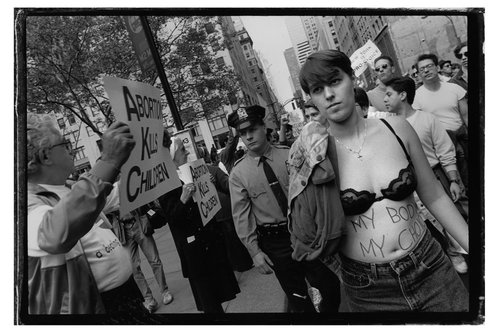 Pro-choice rally. NYC 1992 © Sandra Lee Phipps