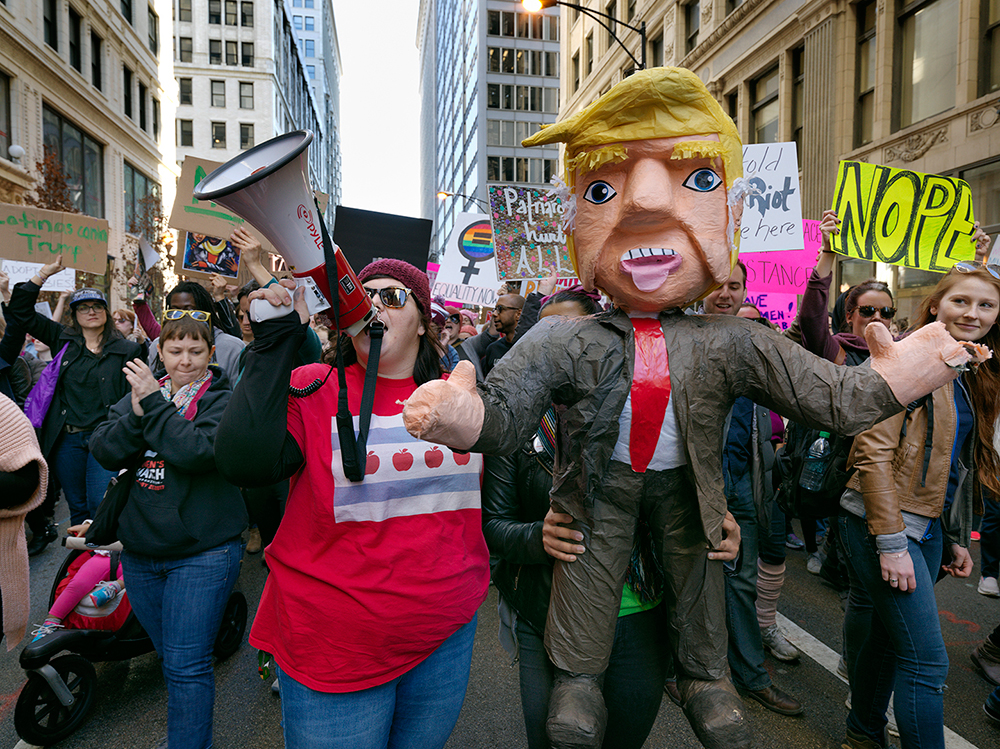 ©Dave Jordano_ Trump Effigy, Woman's March, Chicago