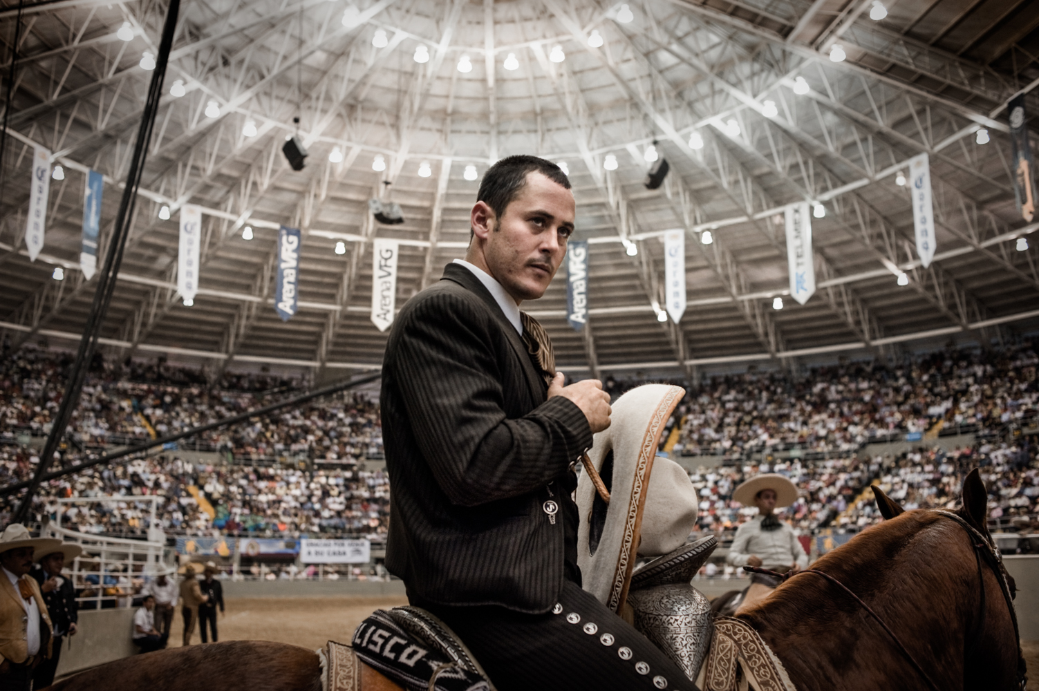 A Charro about to enter the arena to compete