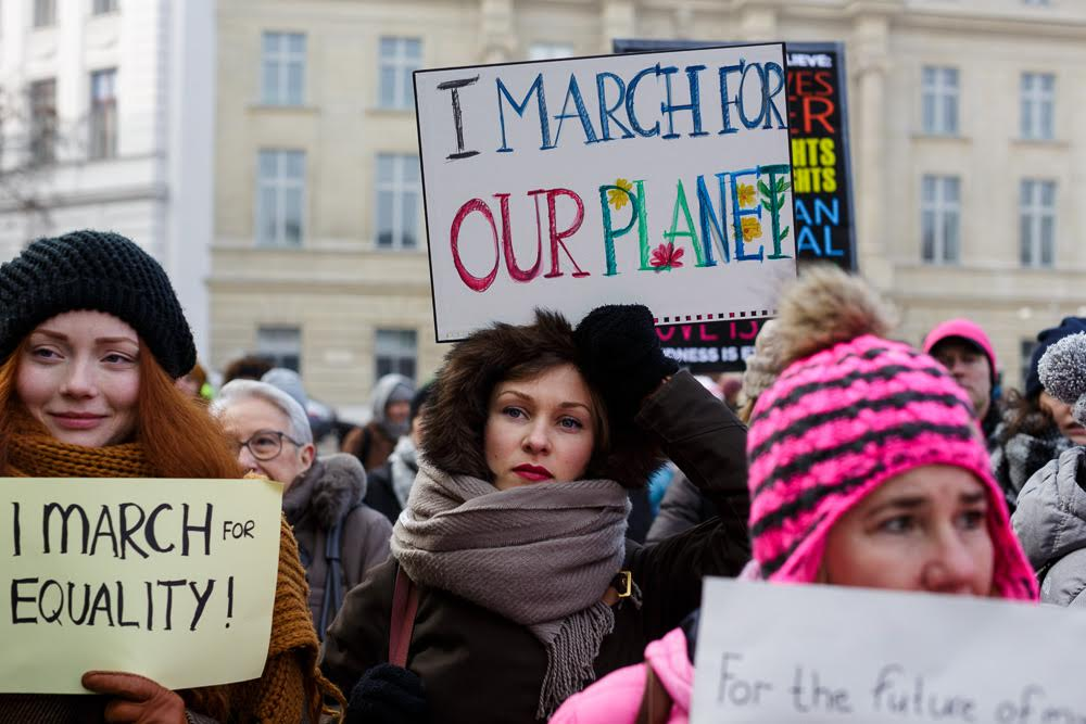 Austria / Vienna / 21.01.2017 / Some 2000 people , a lot of US-citizens among them, joined the Women´s March in Vienna on the first day of Donald Trumps presidency.© Alexander Magedler