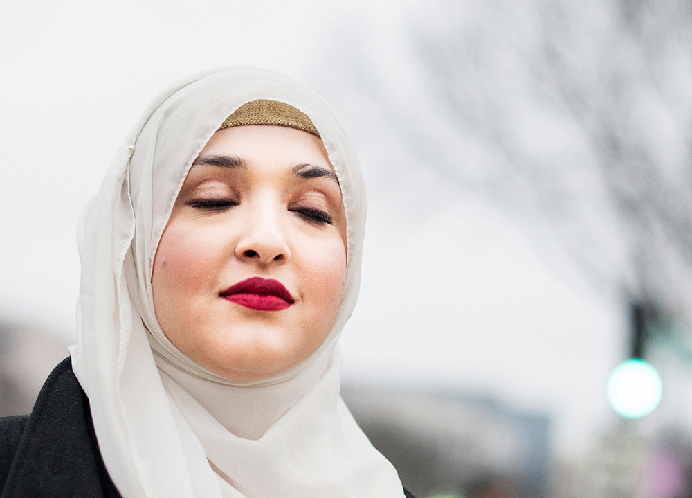 "Women's March on Washington, Washington D.C.  Shehnaz Khan age 30 from NY ""I'm marching because Donald Trump doesn't realize how much he's endangering muslims with his rhetoric, and my name isn't Isis."" 1/21/17 Ali Smith for The Guardian"