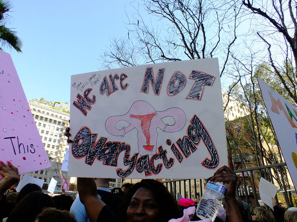 C Carolyn Campbell_ We Are Not Ovaryacting_Women's March_ LA. Jan. 21, 2017