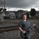 "ELIZABETH PERRY, an electrical work leader at Alstom Transportation Inc., in Hornell, New York.   Originally from Almond, New York, Elizabeth started out as a ""cleaning lady"" in 1986 and rose up the ranks to become an electrical work leader, focusing primarily on electrical work. Workers at the Hornell factory are members of International Association of Machinists and Aerospace Workers Local Lodge 2471."