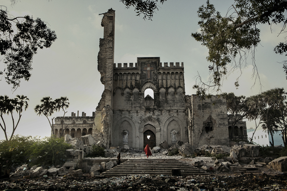 Africa, Somalia, Benadir region, Mogadishu. 26/03/2012. The Catholic cathedral, in the Shangaani neighborhood in the old city of Mogadishu.