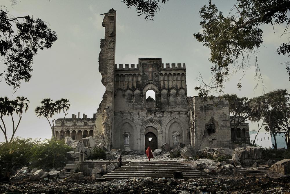 Africa, Somalia, Benadir region, Mogadishu. 26/03/2012. The Catholic cathedral, in the Shangaani neighborhood in the old city of Mogadishu.