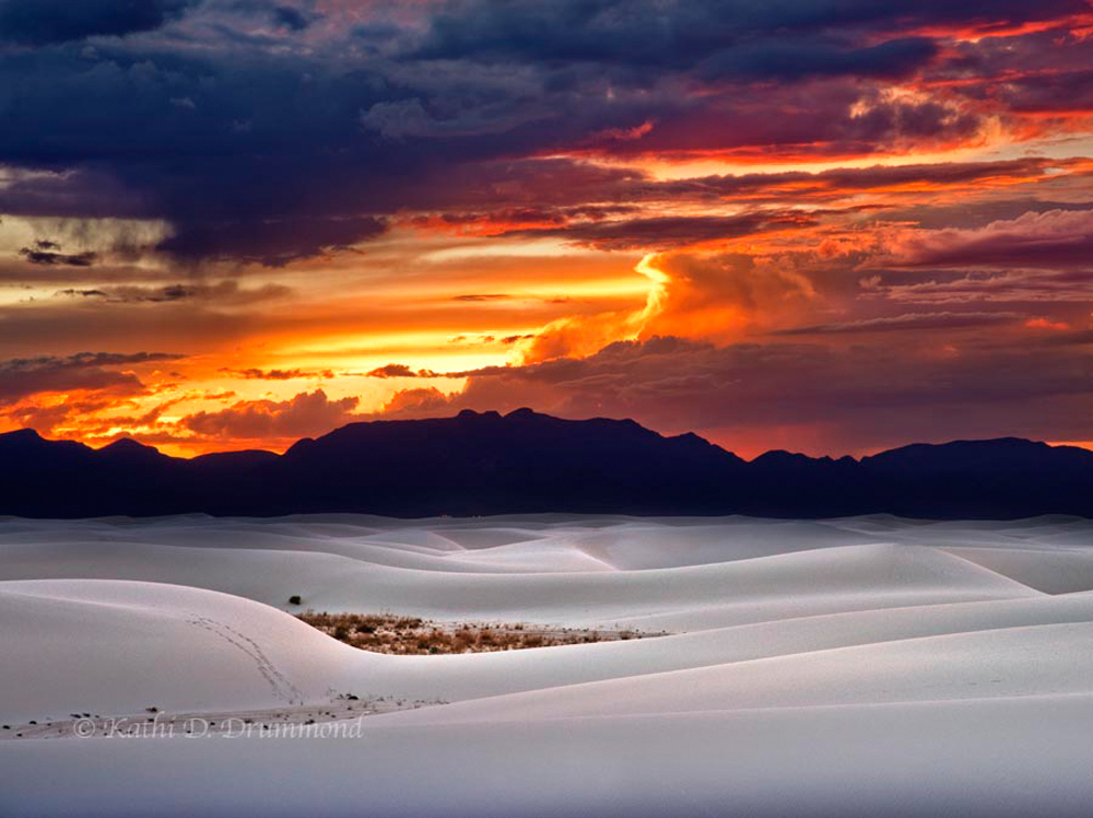drummond.white sands sunset
