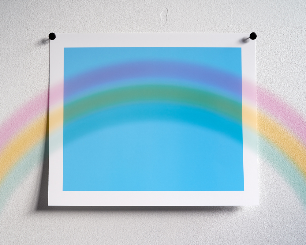 Adam Neese Rainbow Over Sky Blue