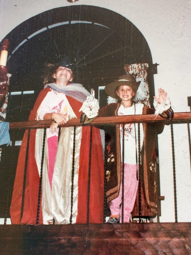 Putting on a play with my sister 1989