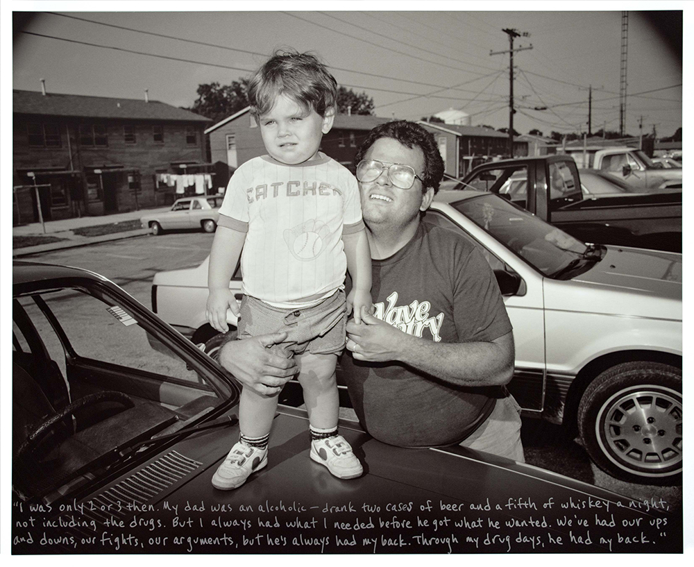 Carl with his Father, Pigeon Hill, 1990