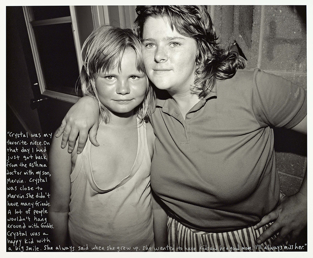 Crystal Grubb & her Aunt Judy, Pigeon Hill, 1991