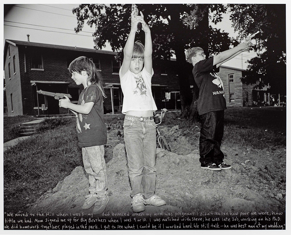 Josh, Playing Cops & Robbers, Pigeon Hill, 1989
