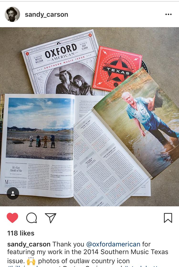 Sandy Carson-Oxford American magazine