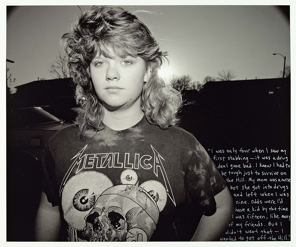 Wendi on Illinois Circle, Pigeon Hill, 1990