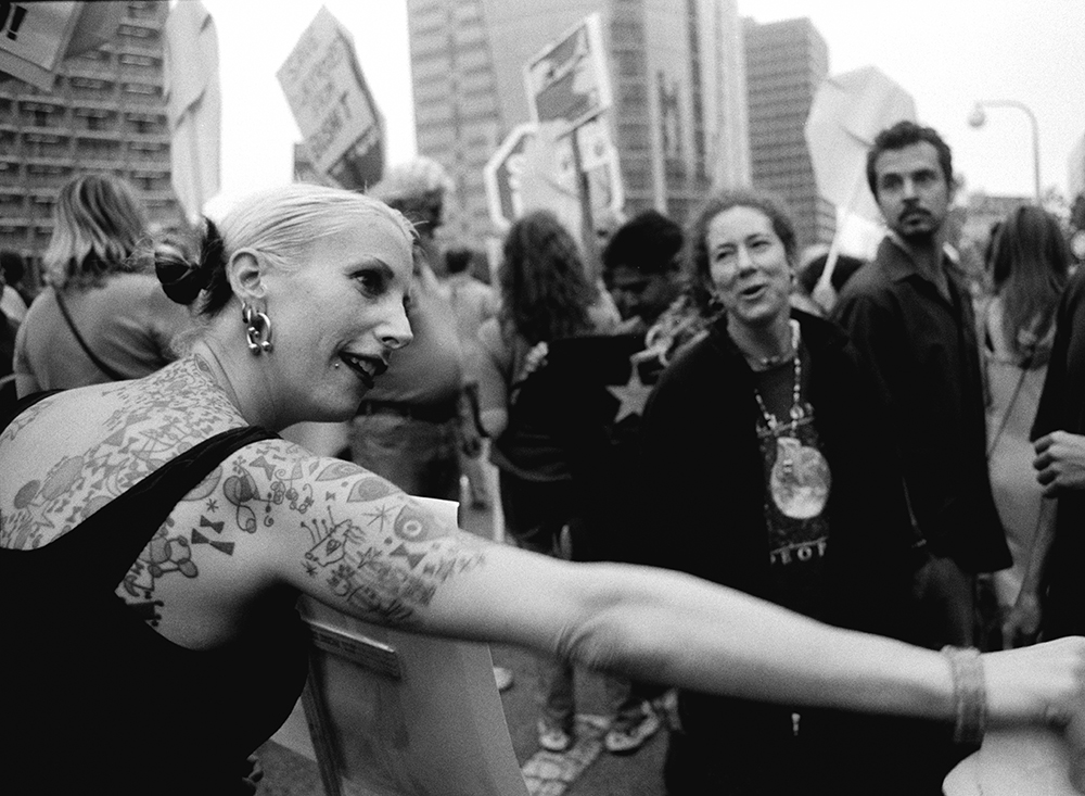 2. Tattooed Protester - Copyright Cindy Bendat 2003