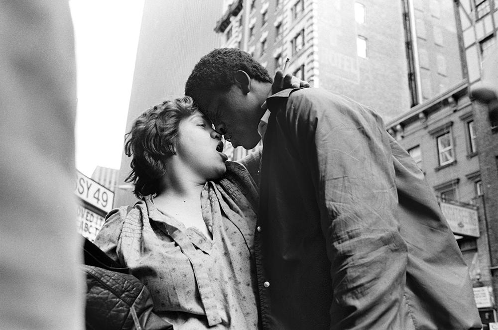 Homeless teenagers, West 42nd Street, 1985