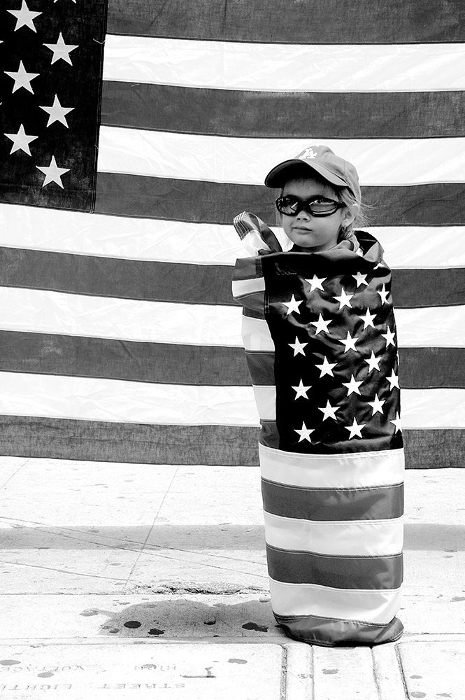 5. Flag GIrl - Copyright Cindy Bendat 2006