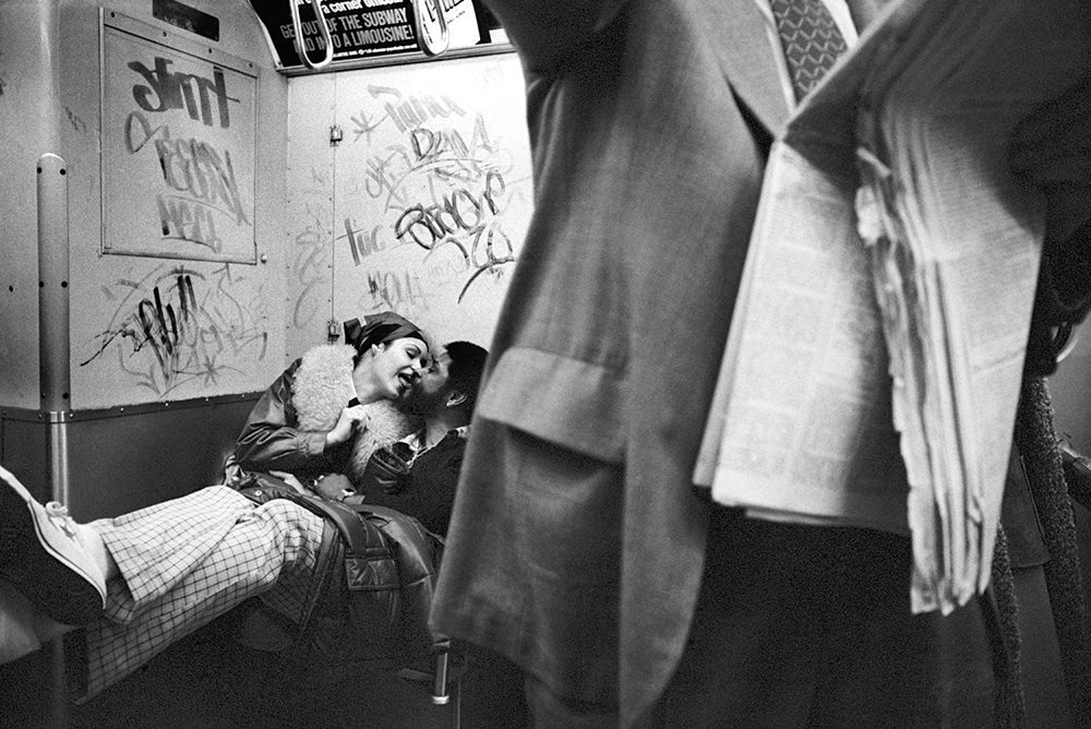 Couple on subway, 1978