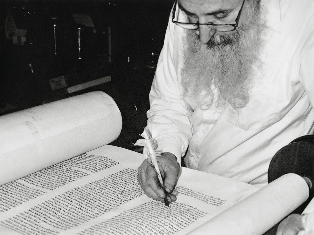 16. Rabbi Eisenbach, Scribe, Essex Street, 1999_