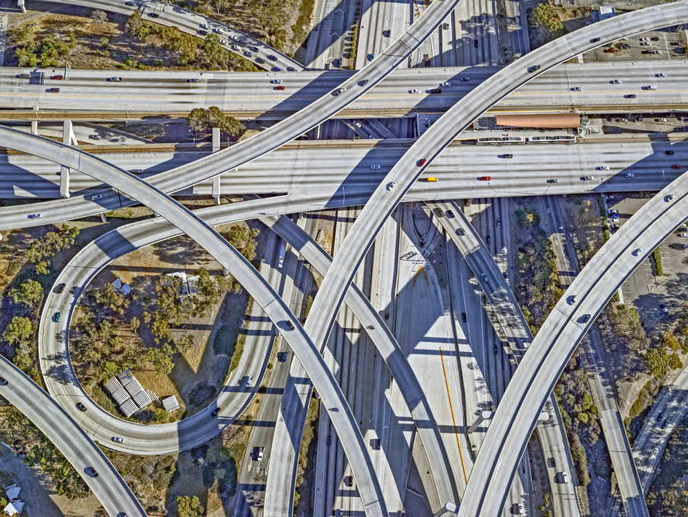 Century and Harbor Freeway Interchange, LA