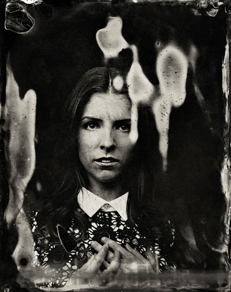 EXCLUSIVE PREMIUM RATES APPLY- Anna Kendrick  poses for a tintype (wet collodion) portrait at The Collective and Gibson Lounge Powered by CEG, during the 2014 Sundance Film Festival in Park City, Utah. (Photo by Victoria Will/Invision/AP)