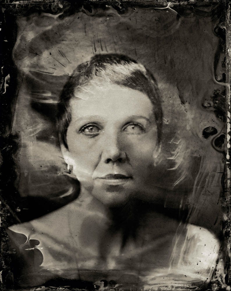 EXCLUSIVE PREMIUM RATES APPLY- Maggie Gyllenhaal poses for a tintype (wet collodion) portrait at The Collective and Gibson Lounge Powered by CEG, during the 2014 Sundance Film Festival in Park City, Utah. (Photo by Victoria Will/Invision/AP)