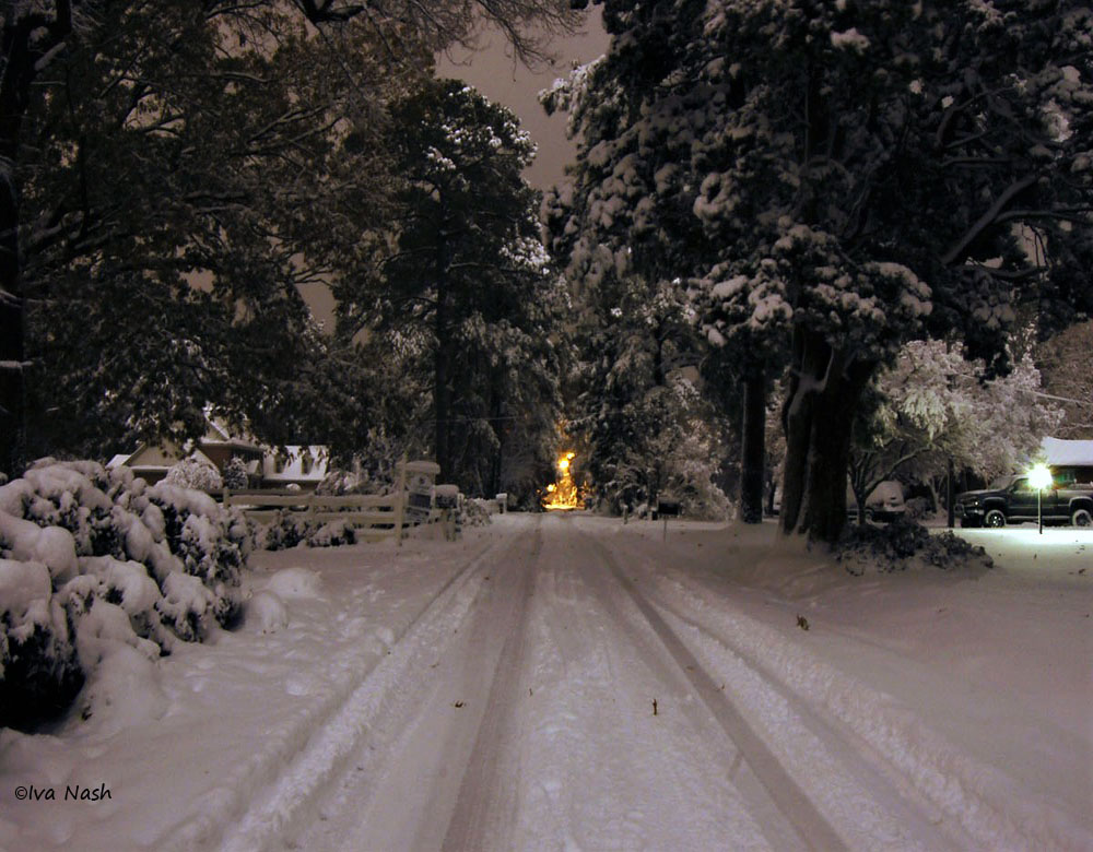Cedar Ln.jpg Snowy Christmas Night