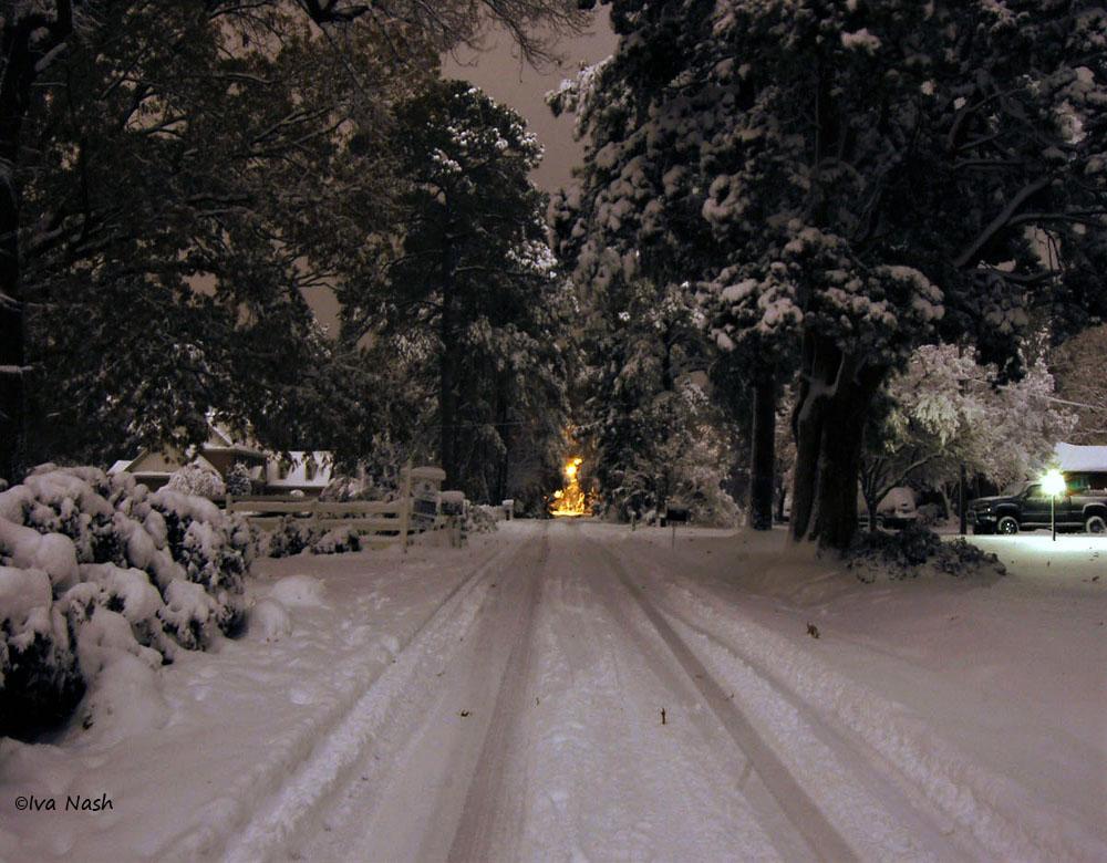 Cedar Ln.jpg Snowy Christmas Night