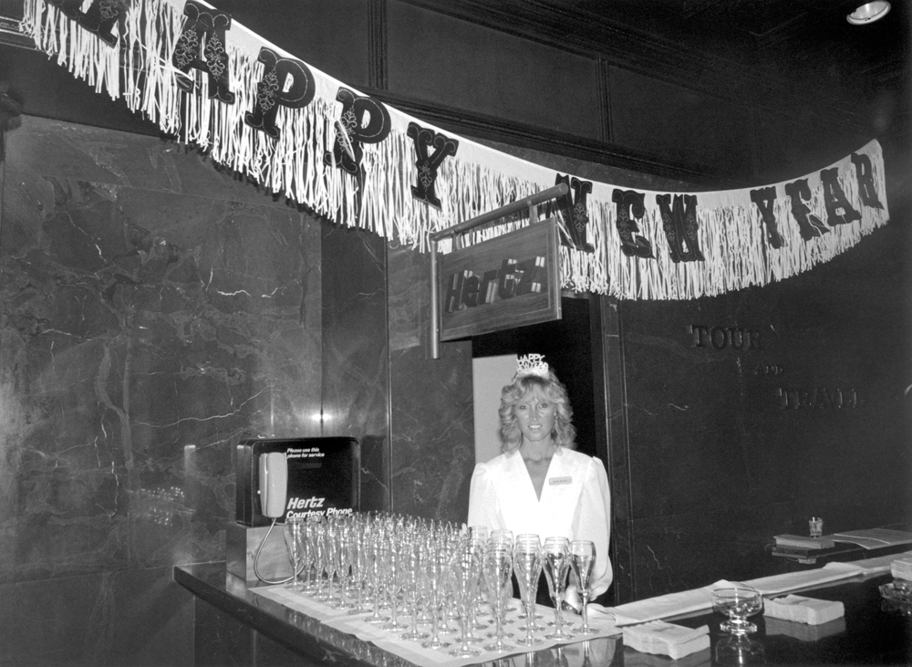 New Year's 1988, San Juan, Puerto Rico Back Bar at the Hertz Counter, El San Juan Casino Resort