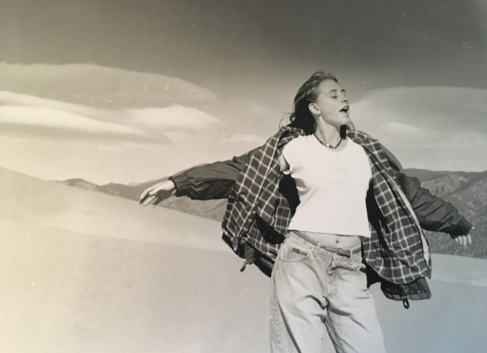 (C)Carol Kelly - photo of Anne Kelly at White Sands_(1994?)