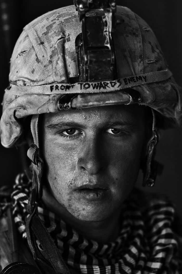 "U.S. Marine Lcpl. Damon ""Commie"" Connell age 20 after a patrol in Garmsir District, Helmand Province, Afghanistan at Forward Operating Base Apache North. Damon is from Las Vegas NV and this is his first tour of Afghanistan..(Credit Image: © Louie Palu/ZUMA Press)"