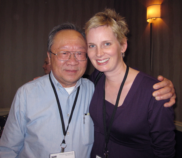 Q1_9_Amy with her graduate mentor Sam Wang at a national conference for the Society for Photographic Education
