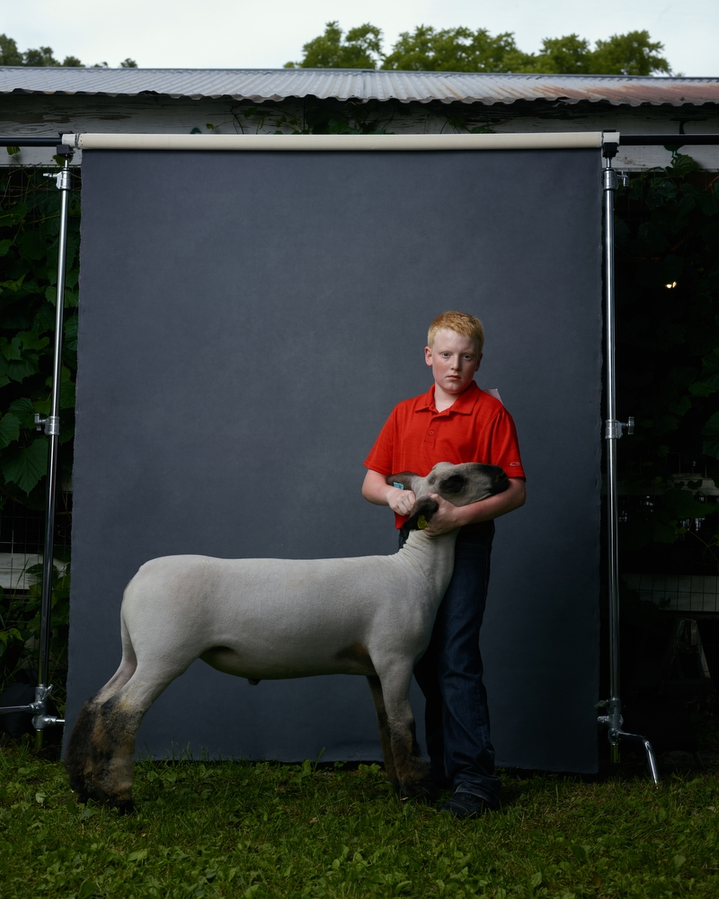 """Cody and Gismo, Blue Earth County Fair, Minnesota, 2016. From the project, """"The Unchosen Ones."""""""